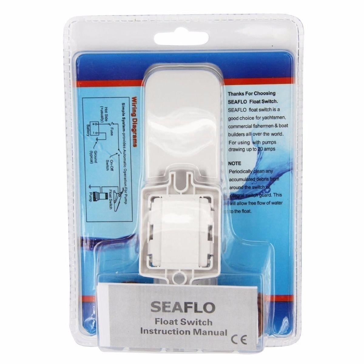 Seaflo Marine Boat Bilge Pump Float Switch - White: Amazon.co.uk ...