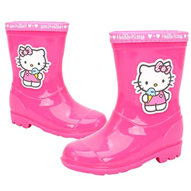 8c9c414a4 Joah Store Girl's Pink Rain Boot Hello Kitty Ice Cream Shoes (Parallel  Import/Generic