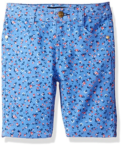 Tommy Hilfiger Toddler Girls' Printed Bermuda Short, Mild Periwinkle,