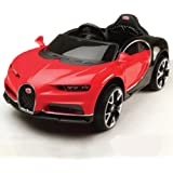 GetBest Buggati Ride on Car for Kids with 12V Battery Operated and Remote, Red