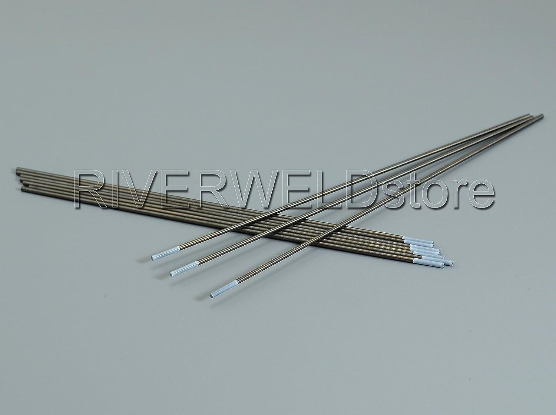 0,8/% Zirconiated WZ8 Blanc TIG /électrode de tungst/ène 3//32 x7 /& 2,4mmx175mm 10pk