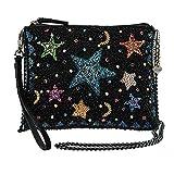 MARY FRANCES Shooting Stars, Multi Embellished Zip-Top Cross-Body Wristlet Handbag