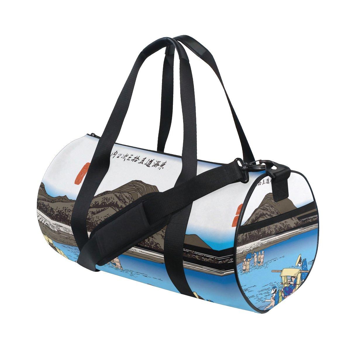 Ukiyoe Ukiyo-E Print Japanese Art Travel Duffel Shoulder Bag ,Sports Gym Fitness Bags