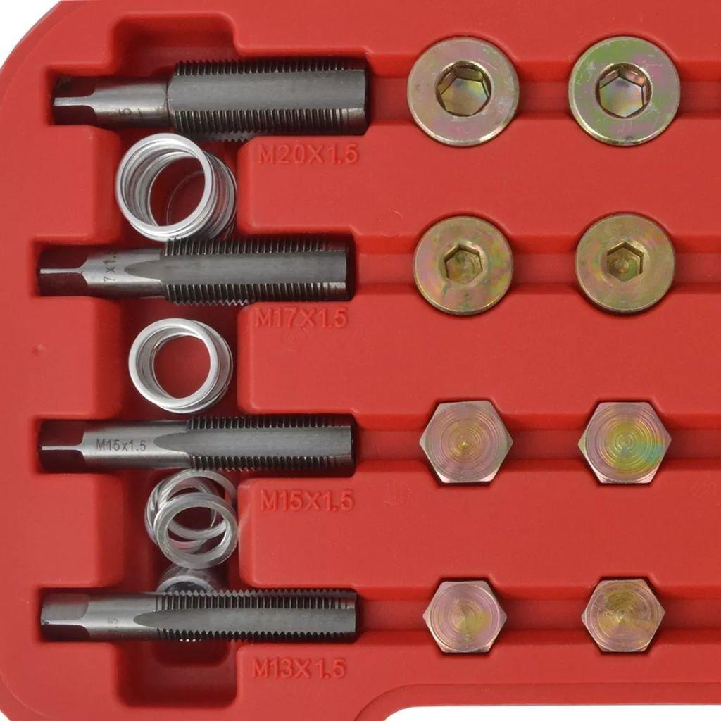 Vislone Tap/ón de Drenaje de Aceite Tap/ón de Sumidero Kit de Reparaci/ón con 64 Piezas Rojo