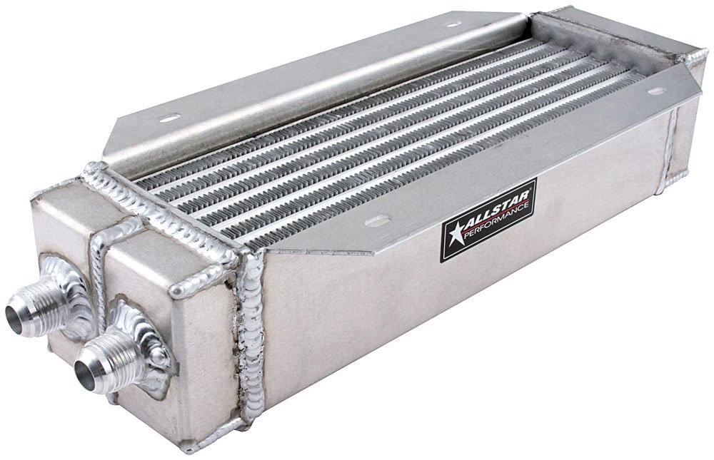 Allstar Performance ALL30146 4' x 15' Aluminum Flange Mount Dual Pass Oil Cooler