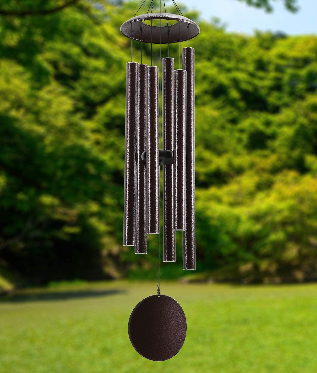 ELYXWORK Large Wind Chimes Outdoor Deep Tone 45 Inch, Memorial Windchimes with 6 Heavy Tubes Tuned Soothing Melody as Sympathy Gift, Home, Patio, Garden Decor, Bronze : Garden & Outdoor