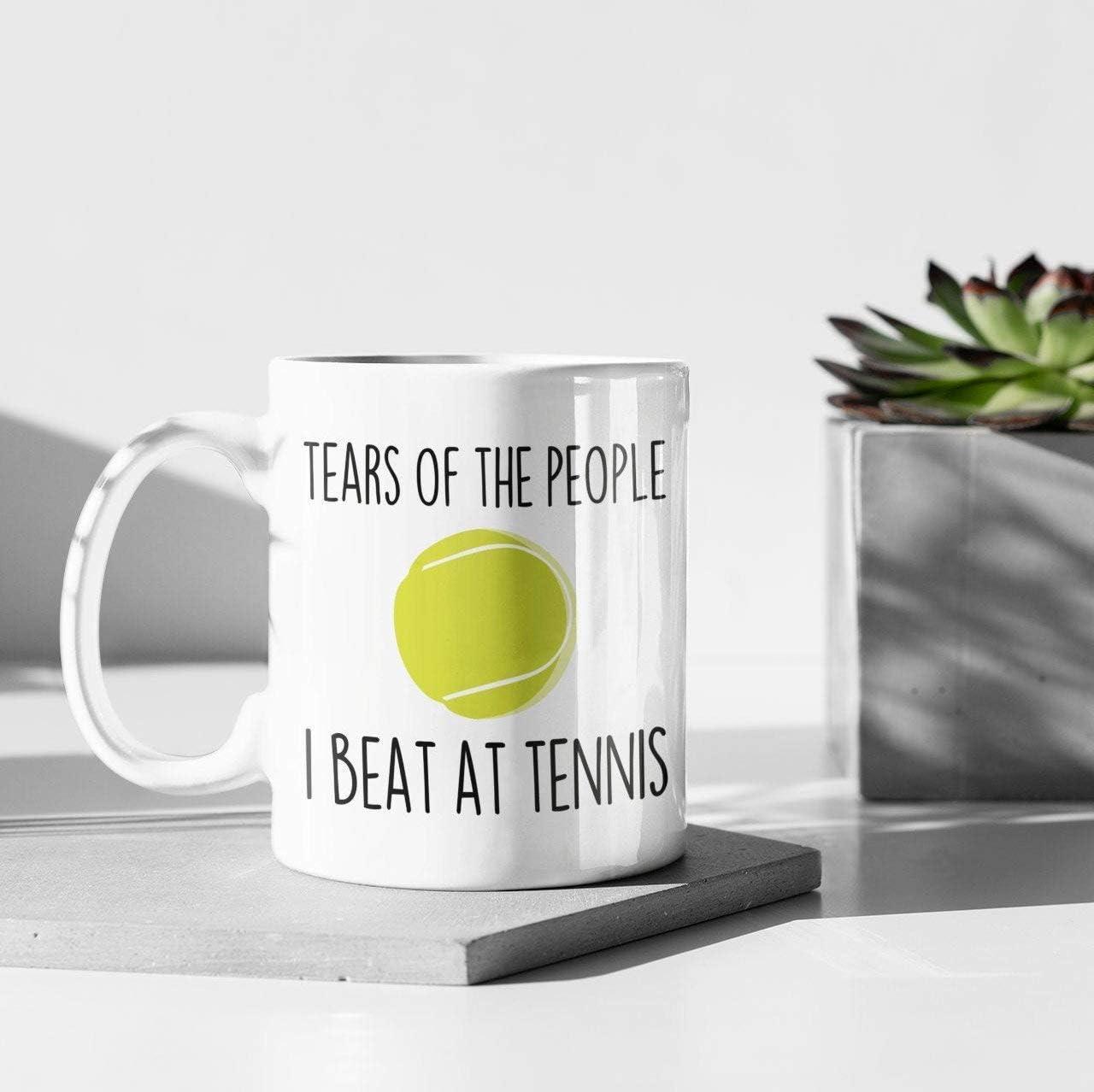 N\A Regalos de Tenis Taza de Tenis Regalos de Tenis para Mujeres Regalos de Tenis para Hombres Regalo de Entrenador de Tenis Ideas de Regalos de Tenis Taza de café de Tenis Capitán de Tenis