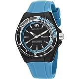 TechnoMarine Unisex 110014 Cruise Sport 3 Hands Black and Blue Dial Watch