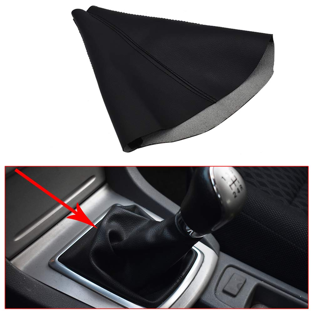 labwork Leather Shifter Boot Shift Cover Black fit for 2005-2011 Hummer H3 Automatic