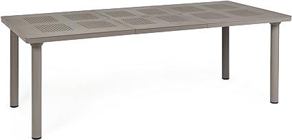 Amazon De Gartentisch Libeccio Ausziehbar Kunststoff Grau Braun 160 220x100cm