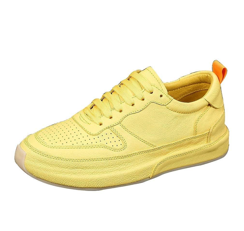 GoldGOD Freizeitschuhe Herren Wild Europa Und Die Vereinigten Staaten Wind Show Schuhe Turnschuhe Dicken Boden Schuhe,Gelb,42Uk