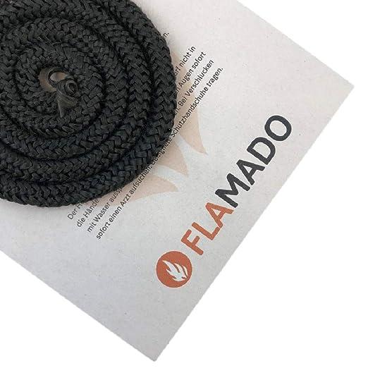 Flamado - Junta para Horno (Tejido de Cristal, Puerta de 16 mm / 3 ...