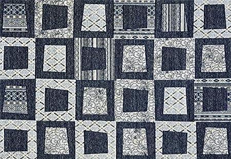 Boyteks Upside Chenille Escondido Tappeto per Arredo Antiscivolo, Misto Cotone, Blu, 56x140 cm Boyteks Tekstil Chenille Escondido CG