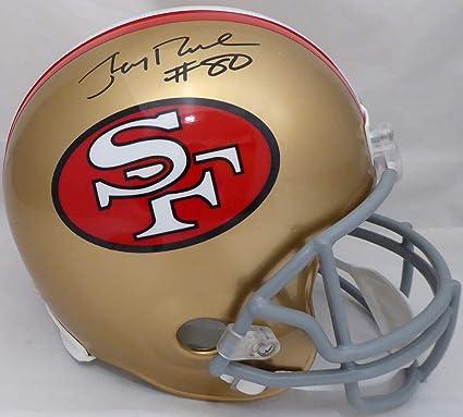825bbcbc9 Jerry Rice Autographed San Francisco 49ers Full Size Replica Helmet  (64-95) quot
