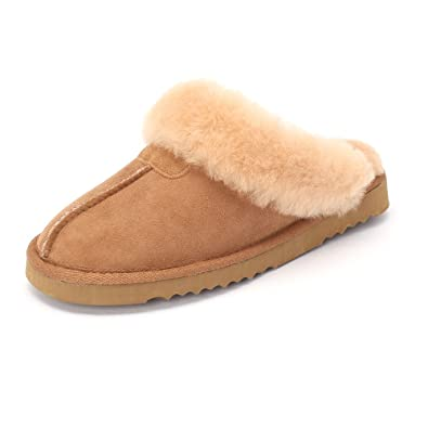 Sheep Touch Women s Classic Twin-Face Sheepskin Slippers Chestnut Size 6 d41accd9a