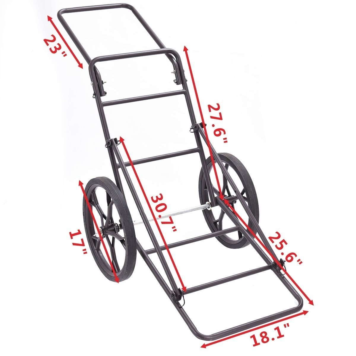 Goplus Folding Deer Game Cart Larger Capacity 500lbs Hauler Utility Gear Dolly Cart Hunting Accessories by Goplus (Image #3)