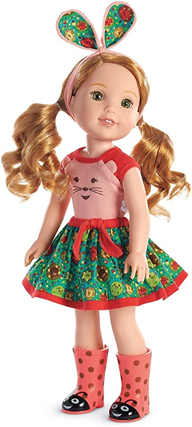 """Blouse /& Ladybug Skirt for 14.5/"""" American Girl Wellie Wishers Wisher Doll Clothe"""