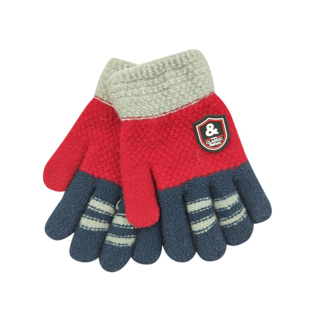 3-8years old children winter gloves christmas Baby Cute Thicken Hot baby handschoenen Winter Warm Gloves