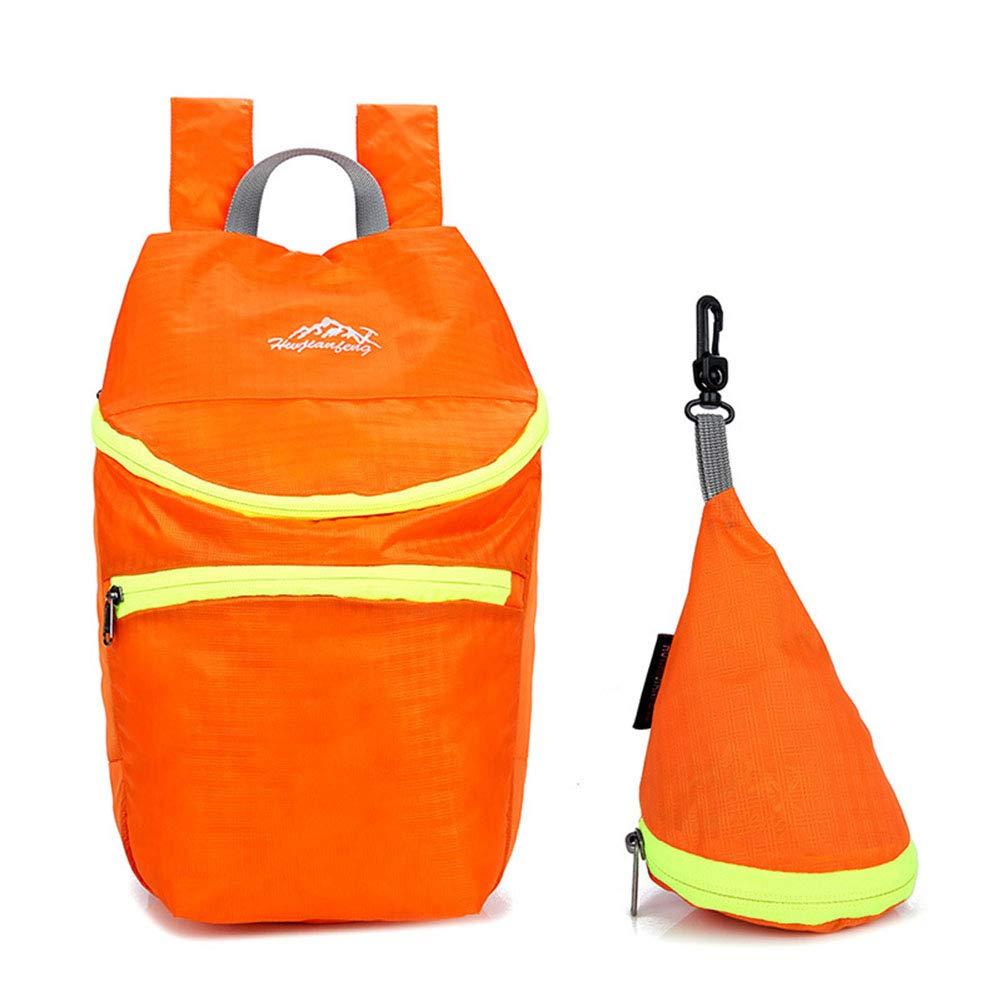 Orange  LHLCG Sac d'alpinisme de Voyage de Camping portatif Ultra-léger Pliable en Plein air