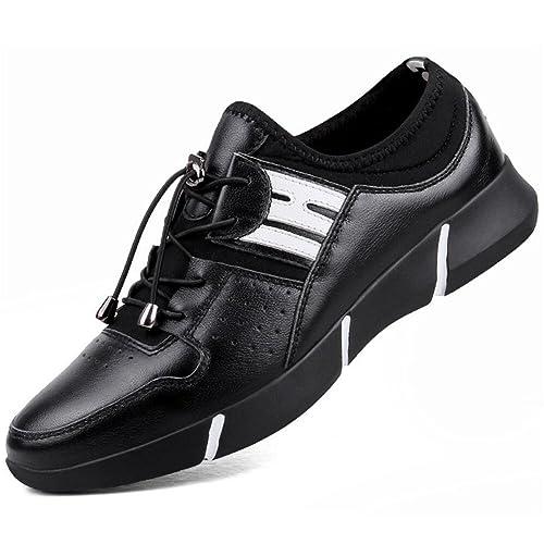 New Zapatillas de Deporte de Cuero para Hombres 2018 Primavera/Verano Zapatos Deportivos de Cuero nuevos Trend Zapatos Informales de Hombre Zapatos de Cuero ...