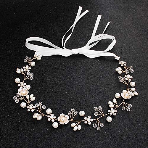 Bridal Headdress, ZTTONE Bridal Jewelry Beautiful Flowers Handmade Beaded Hair Band Wedding Headdress