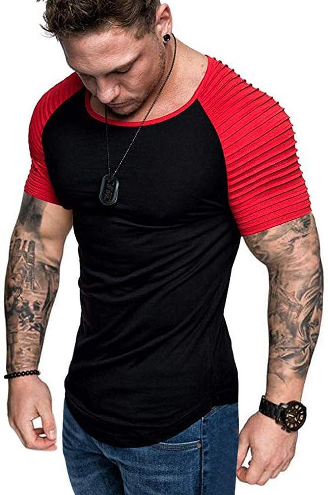 Men T-Shirt Tops Fitness Bodybuilding Gym Muscle Summer Training Slim Tee Shirts