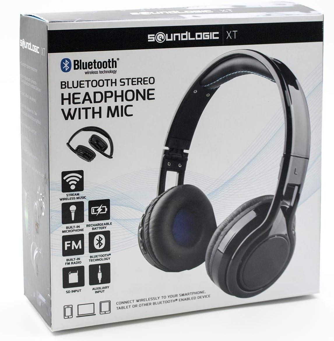 Amerisound Bluetooth Wireless Foldable Stereo Headphone W/Mic,FM,SD card