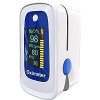 Oxímetro de Pulso, Oxímetro digital de pulso digital con alarma | Lecturas precisas SpO2,…