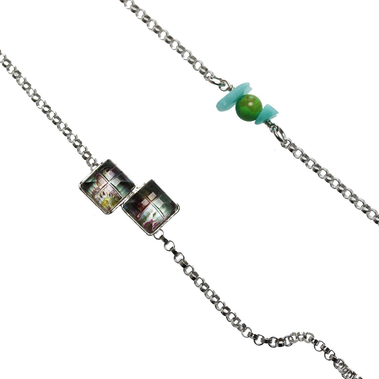 Tamarusan Eyeglasses Chain Turquoise Amazonite Unisex Handmade