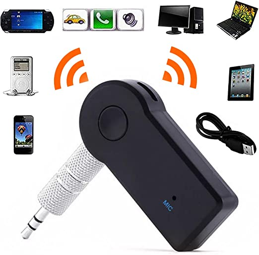 Wireless Bluetooth Receiver 3.5mm Stereo Audio Music Car Adapter Transmitter TO