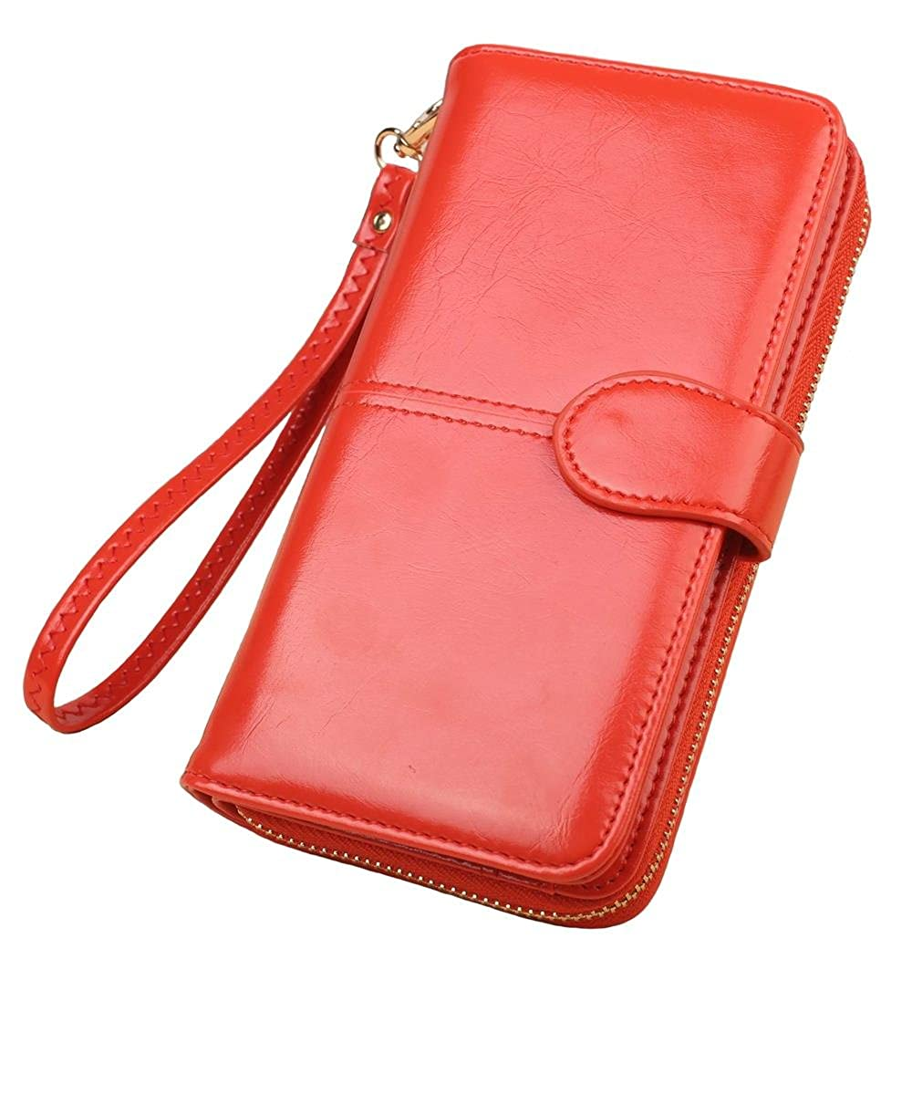 differently 9252a badab Large Capacity Wallet,Multi Card Wallet,Cell Phone Wallet,Leather Women  Wallet