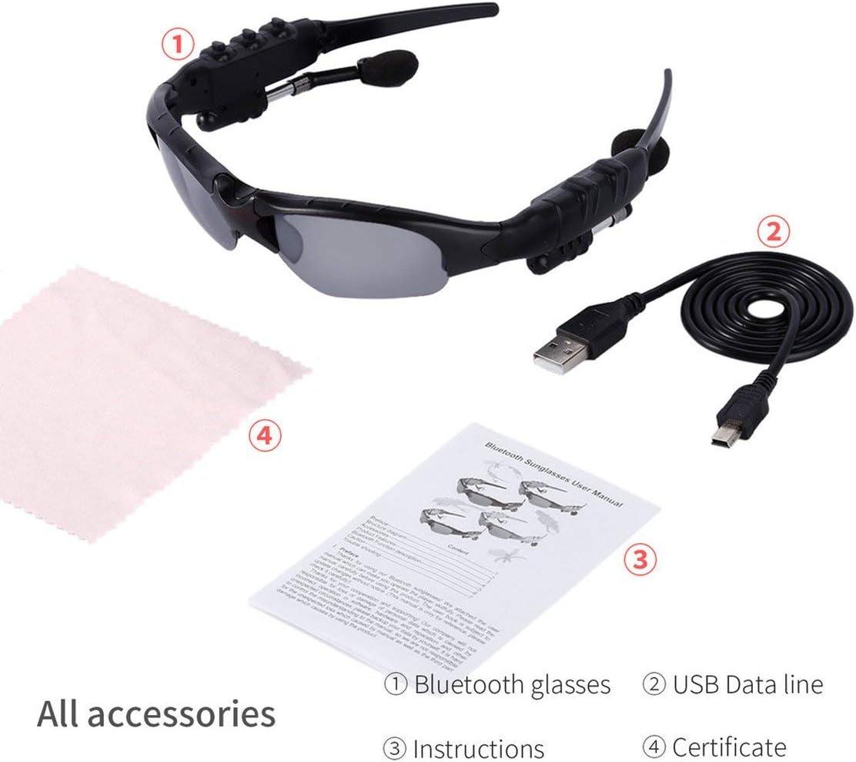 Actualizado Auriculares inalámbricos Bluetooth estéreo V4.1 Gafas de música de los Deportes de conducción Sun Montar los vidrios del Auricular Ouvido