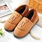 Aemember Bag Of Cotton Slippers With Couples Home Soft Thick Bottom Bottom Skid In Winter Indoor Home Furnishing Shoes,36-37 (Fit For 35-36 Feet),Coffee (Quan Bao)