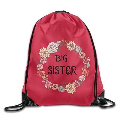 Big Sister Vintage Drawstring Shoulder Bag Backpack Sackpack For Shopping Sport Travel on sale