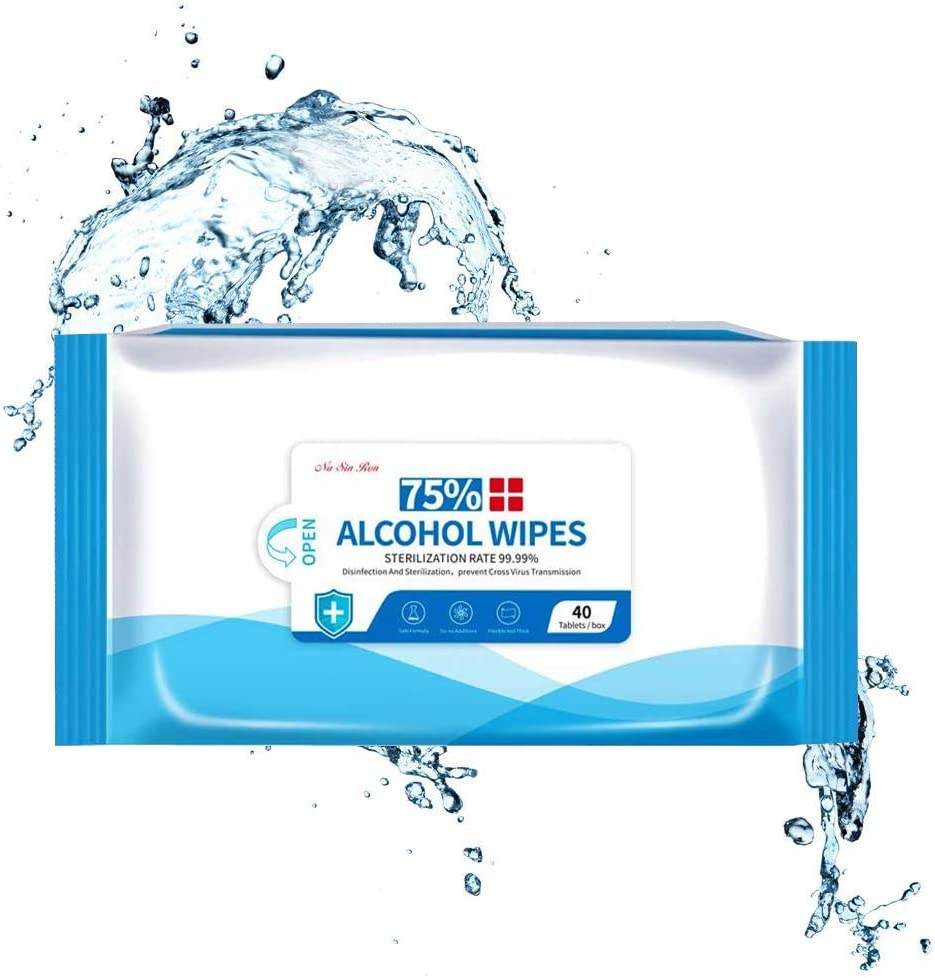 Cleaning Wipes 2 Pack//80 Pcs Hand Cleaning Supplies Wipes for Personal and Household Cleaning