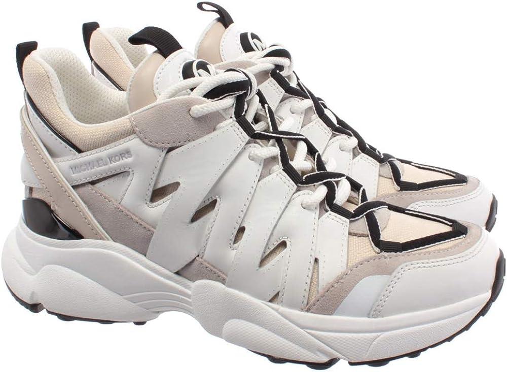 Sneakers Mujeres MICHAEL KORS 43R0HRFS1L Hero Cuero Tejido Beige