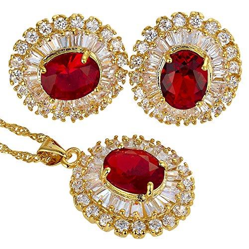 RIZILIA Blossom Jewelry Set Pendant with 18