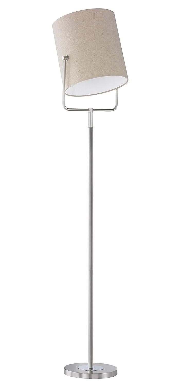 Honsel 45411 Stehleuchte, Metall, 46 W, E27, matt nickel chrom, 30 x 30 x 168 cm