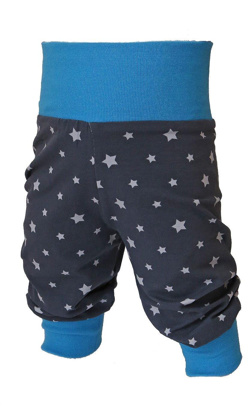 Babyhose, Pumphose Sternchen Jungen, Kinderhose, Jerseyhose blau, hellblau oder grün, dunkelgrau mit Sternen von Tom & Lottchen hellblau oder grün