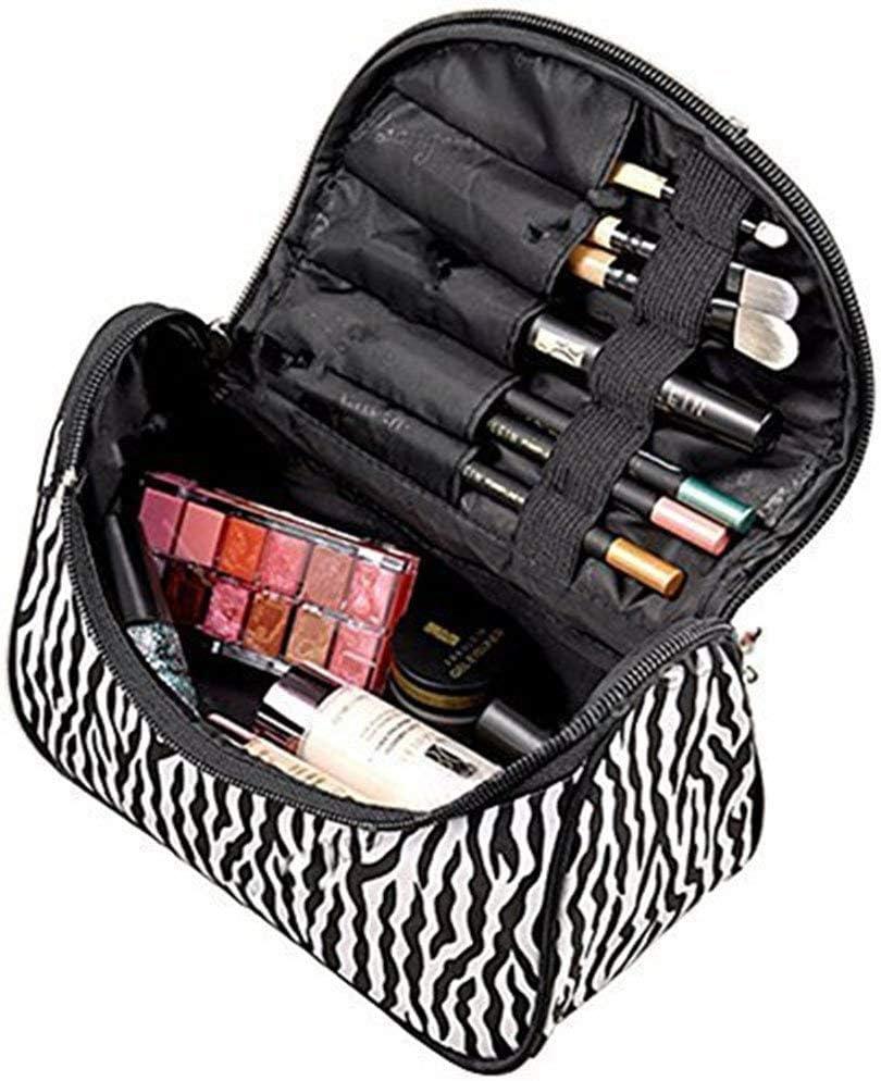 Westeng - Neceser de Maquillaje para Mujer Bolsa Moderna y Bonita para Cosméticos Bolso de Mano para Almacenamiento de aseo Personal, Punto de Onda, 1 unidad