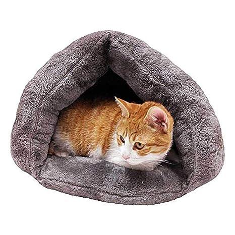 Diuspeed Saco de dormir para gatos, nido para mascotas Bolsa para abrazar la cama del gato Cueva ...