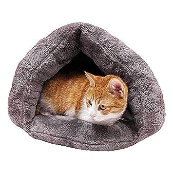 Diuspeed Saco de dormir para gatos, nido para mascotas Bolsa para abrazar la cama del