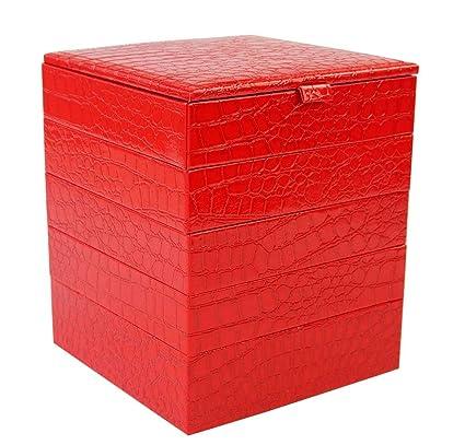 Caja De Joyería, Joyería Oganiser, Caja De Almacenamiento De Joyería De Cuero De PU