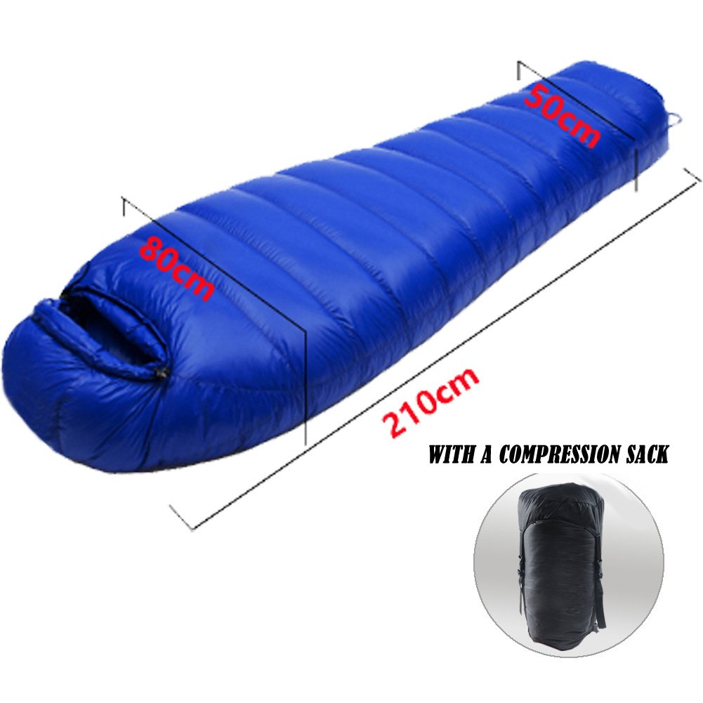 lokep ultraligero 15 - 50 Degree abajo saco de dormir con Free - Bolsa de compresión para saco de dormir, almohada hinchable y la humedad Pad, ...