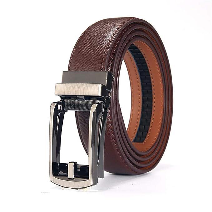 LLUFFY-Belt Cinturon de hombre, cuero, hebilla automática ...