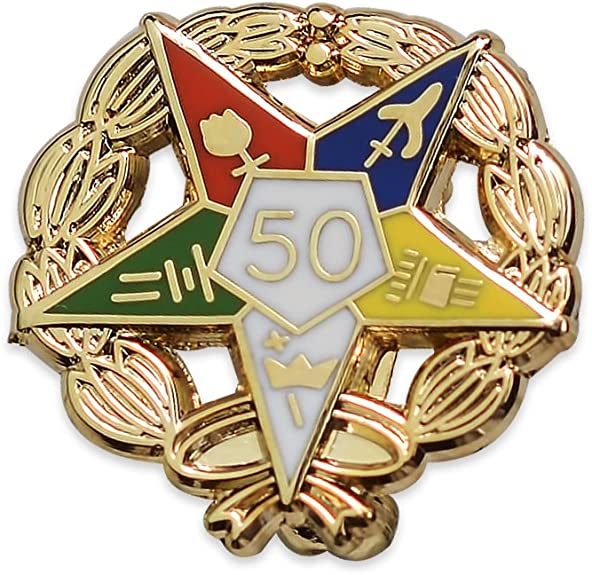 POTIY OES Jewelry OES Symbol Pin Order of The Eastern Star Brooch Pin OES Sorority Gift for Women Girls