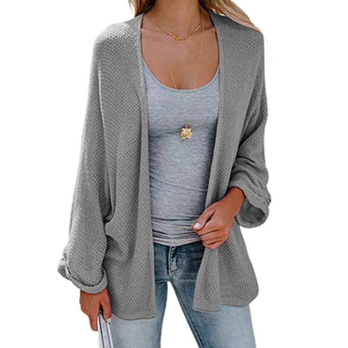 Women Oversized Loose Sweater Long Sleeve Lightweight Cable Knit Chunky Cardigan Coat at Amazon Womens Clothing store: