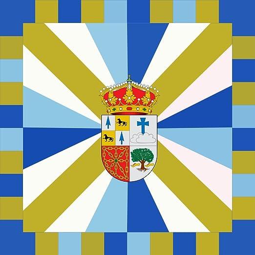 magFlags Bandera Large Bera   Municipio de Bera/Vera de Bidasoa Navarra - España   1.35m²   120x120cm: Amazon.es: Jardín