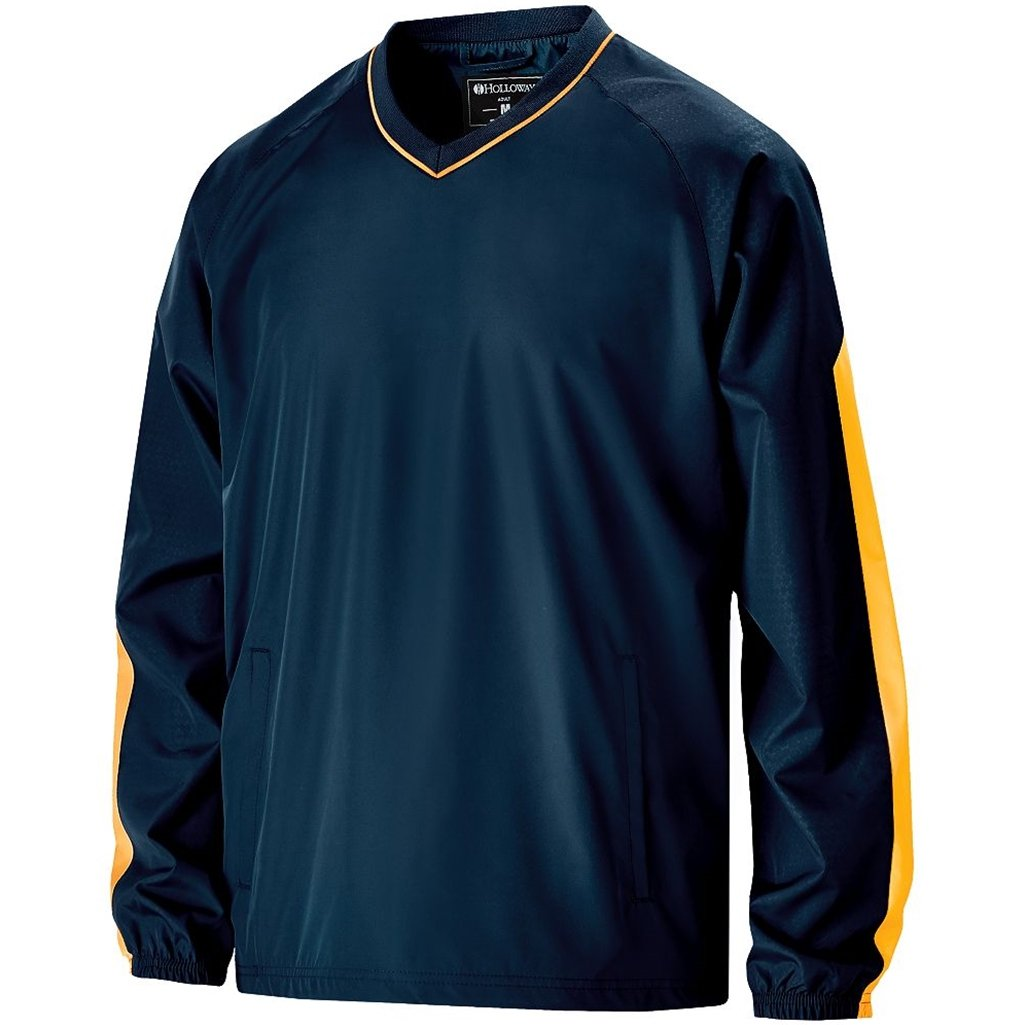 Holloway Youth Bionic Pullover Windshirt (Medium, Navy/Light Gold) by Holloway
