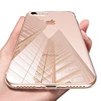 KKtick Coque iPhone 8, iPhone 8 Housse Silicone Gel Case TPU Bumper Absorption de Choc Housse Etui Anti-Scratch Case Apple iPhone 8/ iPhone 7 - Transparent